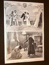 Milano 1905 Teatro Manzoni Fiamme nell'ombra e Teatro Olympia Il Cuculo di Butti
