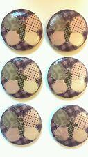 6 Botones de Madera De Retazos Mariposa Púrpura 3cms/30mm Artesanía Coser. UK FREEPOST.