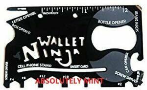 18-in-1 Wallet Ninja Multi-Tool Card Pocket Size Screwdriver Bottle Opener Gifts