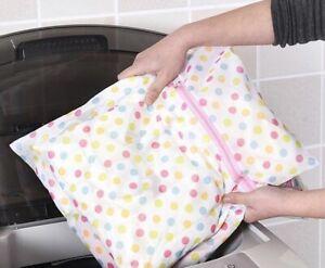 """LARGE Lingerie Laundry Bag 19"""" x 15"""" Delicates, Panty Hose, Bras Wash Zipper"""