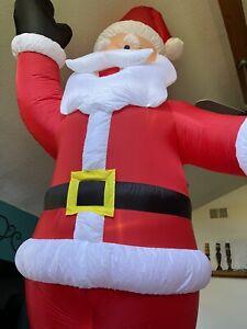 12 foot tall Holiday Living Santa Claus Christmas Airblown Inflatable NICE!