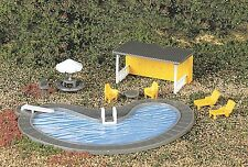 Bachmann HO Scale Train Accessories Swimming Pool And Accessories 42215