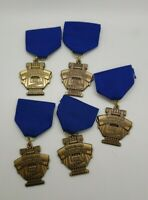 lot of 5 vintage Michigan School Band Orchestra award medals solo & band