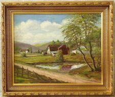 » Dörfliche Landschaft « monogr. EL ! Galerierahmen