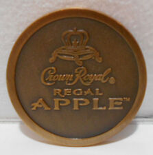 CROWN ROYAL REGAL APPLE  ADVERTISING BRONZE / BRASS COLLECTOR COIN / TOKEN