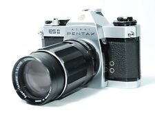 Pentax ESII 35mm Silver Body & Super-Takumar 135mm F3.5 Lens [VG] from Japan 108