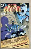 Blue Beetle #24-1988 fn/vf 7.0 low print run last issue Len Wein Carapax