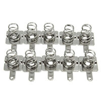 10 Pair Silver Spring Battery Contact Plate Replacement For AA AAA Batteries
