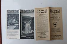 1180 Reise Prospekt BADEN-BADEN Reiseführer mit Hotel Verzeichnis 1933/1934