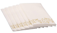 Simulinen Guest Towels for Bathroom - Gold Floral - Disposable Paper Towels - of