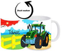 Kinderbecher Trecker bruchfest mit Namen Kindertasse Kunststoffbecher Tasse