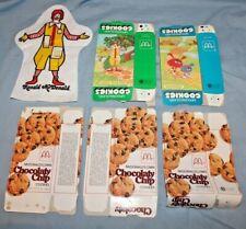 5 Empty McDonald's Own & McDonaldland Cookie boxes & Ronald McDonald Puppet