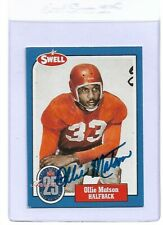 Ollie Matson Signed 1988 Swell HOF #77 Autographed Cardinals