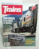 Trains Magazine Of Railroading August 1985 Switchback Great Western Story vtg