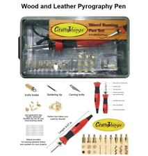 Wood and Leather Pyrography Crafts Pen Set 21 Pen Tips Dual Power Mode 15W/30W