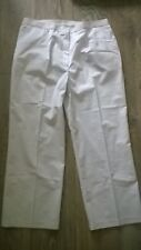"Ladies white  work wear trousers Decorator Painter Size 18, short leg 27"" NEW"