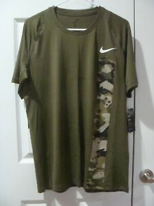 Men's Nike Pro Camo Printed Fitted Training  Shirt CD7672 395 Size S~2XL