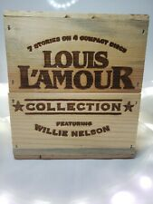 Louis L'Amour Western Collection Audiobook 4 CD Set In Wood Box Willie Nelson