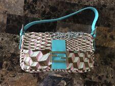 Authentic  Unique Rare Fendi  Baguette Handbag Prong Set Rhinestones