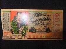 1964 Indianapolis 500 Indy Ticket Stub May 30 1964 Parnelli Jones