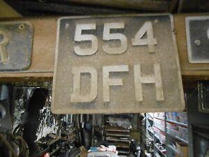 VINTAGE OLD CAR NUMBER PLATE 554 DFH