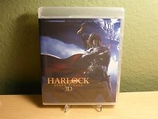 Harlock Space Pirate 3D 2 Disc Blu-ray Twilight Time Limited Edition of 3500 New