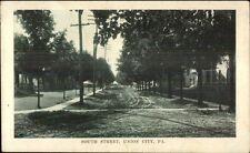 Union City Pa South Street c1910 Postcard