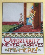 Mary Engelbreit Handmade Magnets-Opportunity Never Arrives It's Here