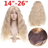 14-26'' Long Blonde Wavy Wigs Synthetic Lace Front Wig Heat Resistant Fiber Hair