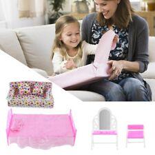 New 8Pcs/lot Princess Furniture Sofa Bed Accessories Child Kids Gift Barbie Doll