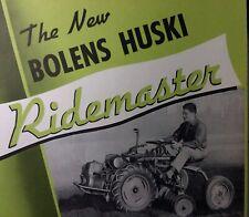 Bolens Fmc 35Ab Aa Huski Ridemaster Garden Tractor Color Sales Brochure Catalog