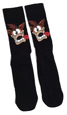 MENS CRASH BANDICOOT BLACK CRASH TONGUE SOCKS UK SIZE 6-11 / EUR 39-46/ USA 7-12