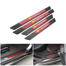4PCS Carbon Fiber Car Door Scuff Sill Cover Panel Step Protector For Chevrolet