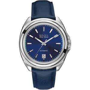 Bulova 63B185 Men's Telc Accu-Swiss Blue Automatic Watch