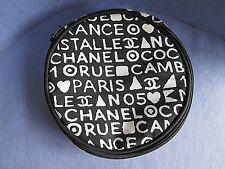 Chanel Cosmetic Bag Rare Vintage 1991 Coco Black White Letters Handbag Purse CC