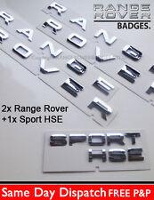Range Rover Badge Lettering Boot Bonnet chrome letters Sport 2014 Hood Template