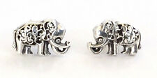 Sterling Silver Miniature Elephant Stud Earrings - Gift Boxed