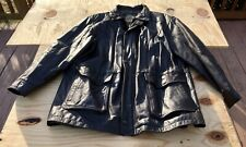 Members Only Vintage Quality Leather Jacket w/ pattern, Men's, Brown, Sz. XL