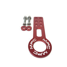 MPC Motorsport Front Tow Hook Kit Honda & Acura Universal JDM Style [Red]
