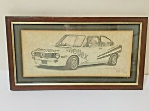 vintage Rally Car Signed limited Edition Print
