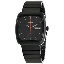 Fossil Rutherford Black Dial Mens Stainless Steel Watch FS5333