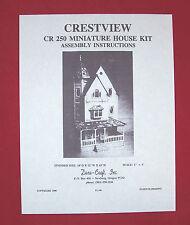 Dura-Craft  *CRESTVIEW* CR-250  Dollhouse Instructions