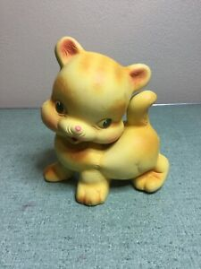 Vintage Cat Squeak Dog Toy by Rempel Ohio. Squeaker works