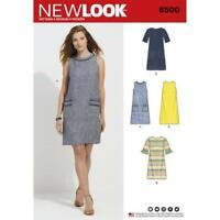 New Look Sewing Pattern 6500 Misses Dress Neckline Sleeve Size 10-22 Uncut