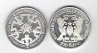 ST THOMAS & PRINCE - SILVER 250 DOBRAS COIN 1977 YEAR KM#32 WORLD FRIENDSHIP
