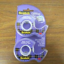 + Gift Wrap Tape Scotch Adhesive 3/4 in x 600 Inches 2pk