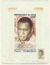 MALI 1986 PAUL ROBESON CINEMA ORIGINAL DRAWING ARTWORK ADOPTED DESIGN C522UNIQUE