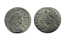 Sizain 1649 Barcelona. Louis XIV°, Cuivre / 1 Seiseno 1649 Barcelona Luis XIV°