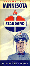 1953 Minnesota Road Map from Standard Oil of Indiana