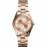 **NEW* LADIES MICHAEL KORS COLETTE ROSE GOLD CRYSTAL DATE WATCH MK6071 -RRP £229